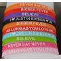Pulseras Justin Bieber Silicona. Pack De 10. Metro Las Rejas