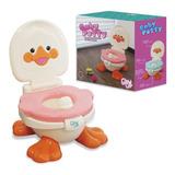 Pelela Wc Niñ@s Patito Baby Potty 3 En 1 Hasta 5 Años R4289