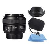 Lente 50mm F1.8 Yongnuo Para Nikon | Parasol | Bolso | Paños