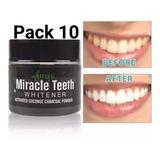Pack 10 Pasta Blanqueador Dental Miracle Teeth
