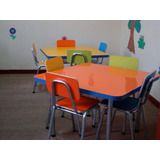 Mobiliario Infantil Mesa + 4 Sillas Kinder, Parvulo 73x73x52