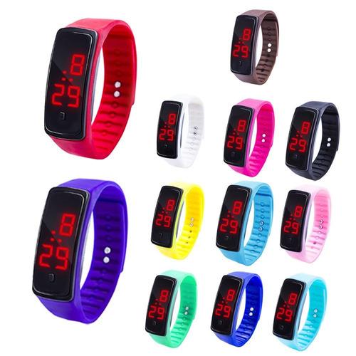 68ffe4342ec8 Reloj Deportivo Led De Colores + Fecha Geoventas