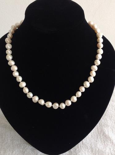 b155ac44744c Collar De Perlas Blancas Cultivadas Barroco