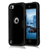 Ipod Touch 6 Caso, Mcuk 3 En 1 Cubierta Híbrida Piel De Gom