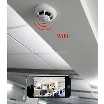 Camara Wifi Oculta Detector De Humos Grabadora De Video...