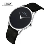 Reloj Ibso Ultrafino Cuero Hombres Caballeros Moda 2018