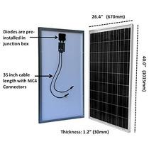 Windynation 100 Vatios 100w Panel Solar Para La Carga De...