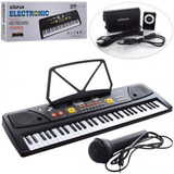 Teclado Organo Piano 5 Octavas Usb Mp3 Aux Power Bank