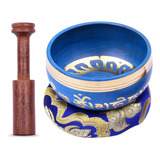 Ammoon - Cuenco Tibetano (9,5 Cm), Color Azul
