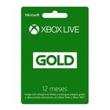 Xbox Live Gold Tarjeta 12 Meses Chile