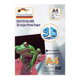 Papel Fotográfico 3d Glossy A4 250gr. / 20 Hojas