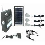Kit Solar Emergencia 3ampolletas Linterna Radiomp3 Bluetooth