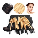 Set 32 Pinceles Y Brochas Maquillaje Prof +bolso Organizador