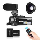 Cámara De Video Digital Filmadora Andoer Hdv-201lm 1080p Fhd