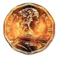 Moneda 50 Pesos 2008 Chile Con Raro Error De Acuñado Chiie