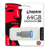 Pendrive Kingston 64gb Usb 3.0 Dt50 Azul - Kingston