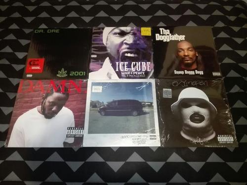 Lote West Coast 6 Vinilos Rap Hip Hop Nuevos Y Sellados