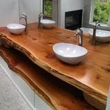 Cubiertas De Madera Rústicas Para Baño