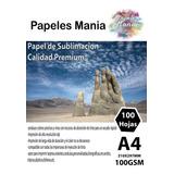 Papel De Sublimacion Calidad Premium A4 100 Hojas