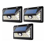 X3 Foco Solar 30 Led 6w Sensor Movimiento 800lm Ml5071