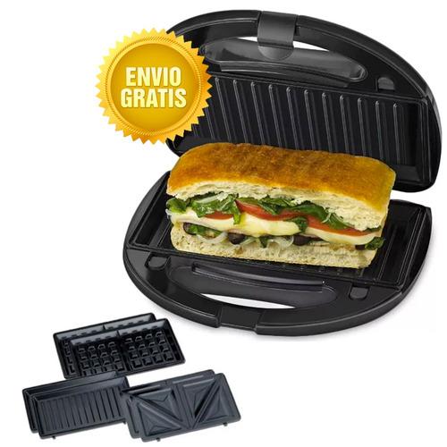 Sandwichera Waflera 3 En 1 B&d Gbd1043 Antiadherente
