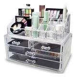 Cosmetiquero Acrílico Organizador De Maquillaje Espejo 94106