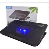 Base Notebook Alzador N99 2 Ventiladores Luz / Eshopviña