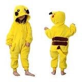 Kigurumi Pokemon - Pikachu Pijamas Enteros 4 A 12 Años