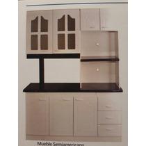 Busca mueble de cocina americano 3 y 4 cps blanco y madera ...