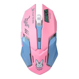 Mouse Gamer Inalambrico Diseño Overwatch Recargable Led