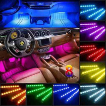 Tiras Led Rgb Interior Auto Multicolor  12v Ritmica