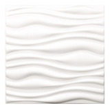 Lamina Pared 3d Adhesiva Panel Tipo Ondas Blancas