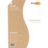 Papel Adhesivo Kraft Imprimible 120gr A4 X 50 Hojas