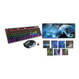 Teclado Mecanico + Mouse + Pad Rgb Xxl Kit Gamer