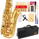 Alto Saxofón En Mi Bemol Con Estuche Y Accesorios