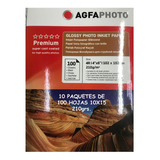 Papel Fotografico 10x15 Glossy 210 Grs Pack X10 - 1000 Hojas