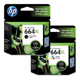 Pack Cartuchos Originales Hp 664xl - Pack Negro & Tricolor