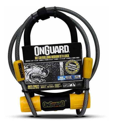 Candado Bicicleta Onguard U-lock Bulldog Medium Dt Cable