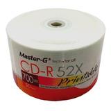 Torta 50 Unidades Cd Imprimibles Master-g 52x 700mb 80 Min.