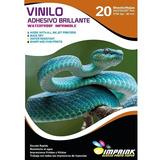 Vinilo Adhesivo Blanco Glossy Imprimible A4/20 Hojas Imprink