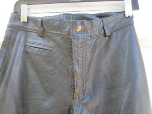 869815e44764e Pantalón De Cuero Negro Para Hombre Talla M