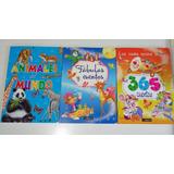 Pack De 3 Libros De Cuentos Infantiles Ilustrados.