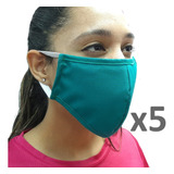 Pack 5 Mascarillas Clinica Antifluidos Reutilizable