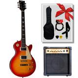 Guitarra Eléctrica Queen Slpp380 Tipo Lp + Amp. Scorpion G20