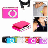 Pack 5 Reproductores Mp3 Clip + Audifonos + Cable, 8gb