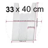 Bolsas Camiseta Blancas Para Basura 33 X 40 Cm Aprox 100 Und