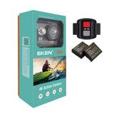Eken H9r Camara Deportiva Wifi 4k + Control Con 2 Baterias