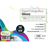 Papel Fotográfico Glossy 13x18 5r 230gr Pack 100 Hojas