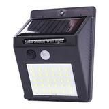 Foco 30 Led Solar Con Sensor Movimiento Exterior E Interior