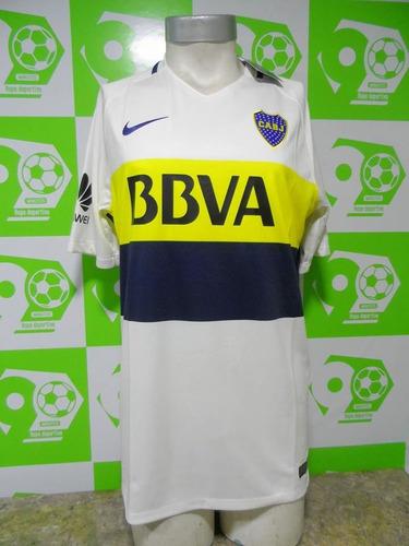 1d6b395a0e6a7 Camiseta Boca Juniors 2016-2017 Visita Blanca Nike Nueva